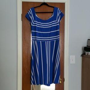 Loft Plus open, cross back dress